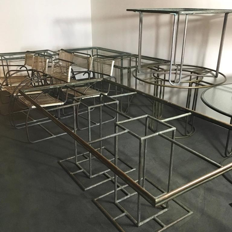 Walter Lamb Petite Bronze Dining Table For Sale 2