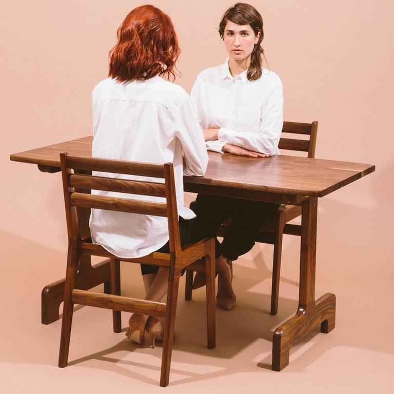 Asa Pingree Fenelon Dining Chair in Walnut, Oak, Ebonized Maple or Fog Gray Ash For Sale 1