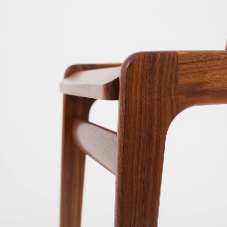 Contemporary Asa Pingree Fenelon Dining Chair in Walnut, Oak, Ebonized Maple or Fog Gray Ash For Sale