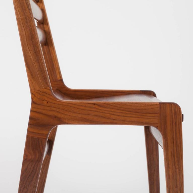 American Modern Asa Pingree Fenelon Dining Chair in Walnut, Oak, Ebonized Maple or Fog Gray Ash For Sale