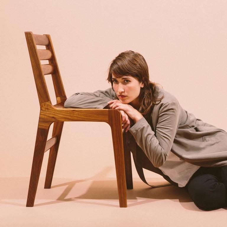 Asa Pingree Fenelon Dining Chair in Walnut, Oak, Ebonized Maple or Fog Gray Ash For Sale 2