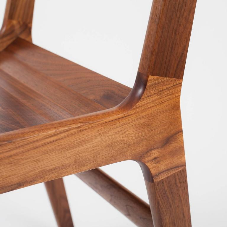 Asa Pingree Fenelon Dining Chair in Walnut, Oak, Ebonized Maple or Fog Gray Ash In Excellent Condition For Sale In Brooklyn, NY