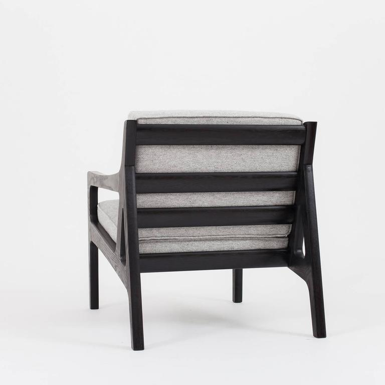 American Asa Pingree Pilar Lounge Chair in Ebonized Oak For Sale