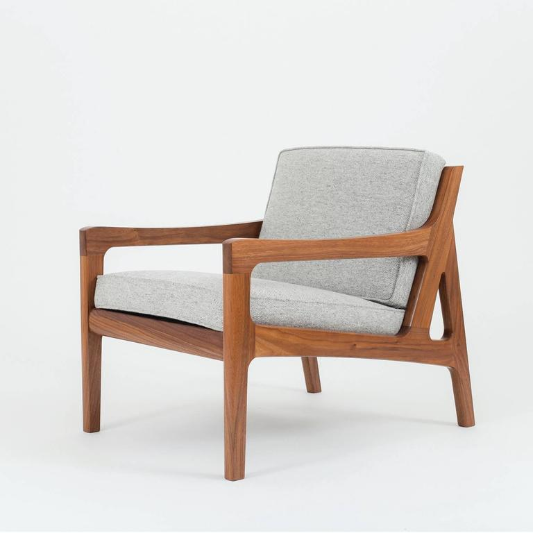 Contemporary Asa Pingree Pilar Lounge Chair in Ebonized Oak For Sale