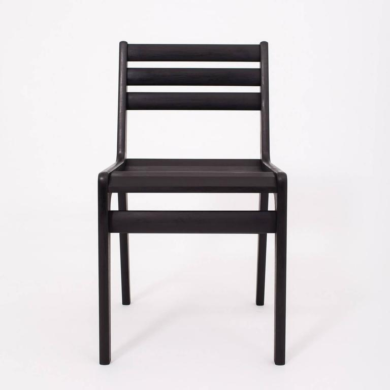 American 'Fenelon' Wood Chair in Ebonized Maple - Black For Sale