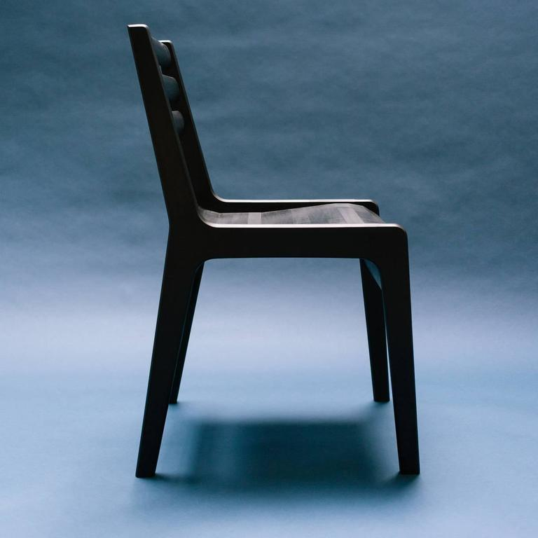 American Modern 'Fenelon' Wood Chair in Ebonized Maple - Black For Sale