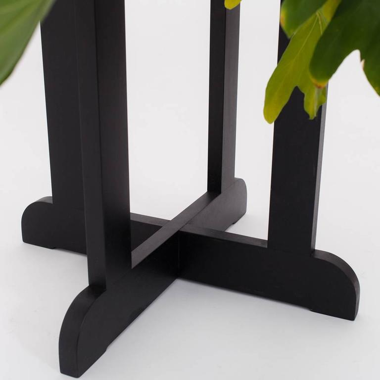 American Modern QE2 Plant Stand in Ebonized Maple For Sale