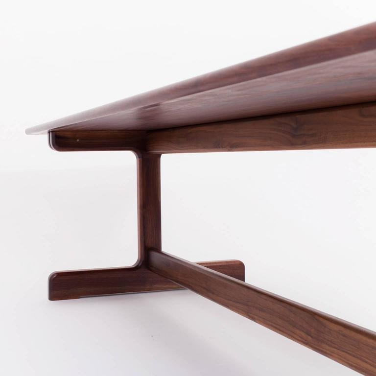 Physalia LP Dining Table, Low Profile Foot in American Walnut In New Condition For Sale In Brooklyn, NY