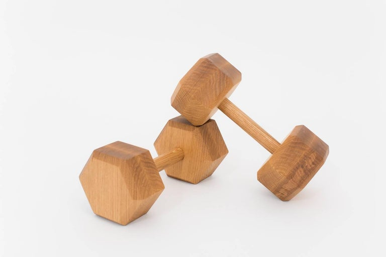 Modern Tidewalker Free Weights in White Oak For Sale
