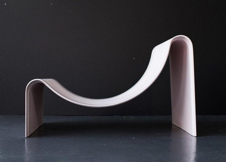 'Knockabout' Fiberglass Lounge Chair, Powder Pink For Sale 2