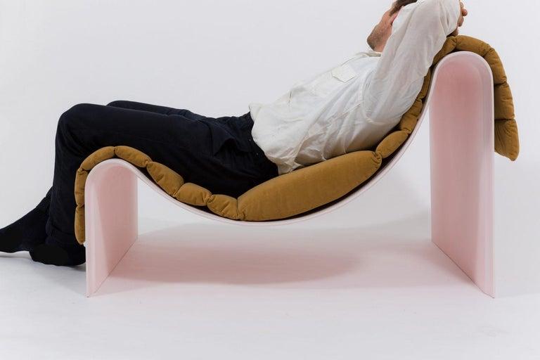 'Knockabout' Fiberglass Lounge Chair, Powder Pink For Sale 4