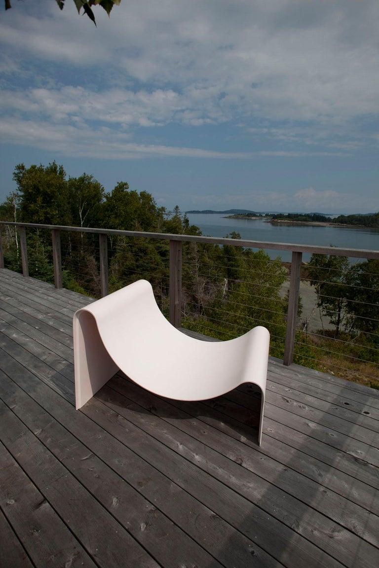 'Knockabout' Fiberglass Lounge Chair, Powder Pink For Sale 5