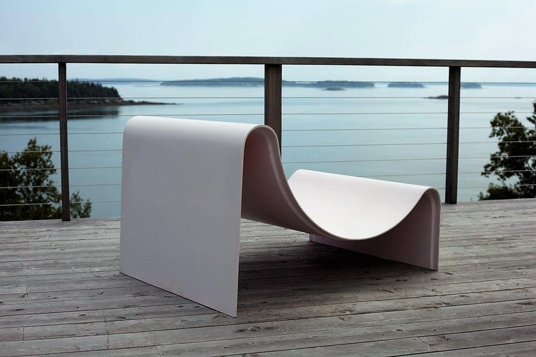 'Knockabout' Fiberglass Lounge Chair, Powder Pink For Sale 6