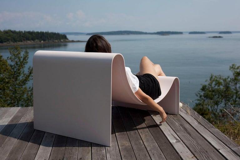 'Knockabout' Fiberglass Lounge Chair, Powder Pink For Sale 7