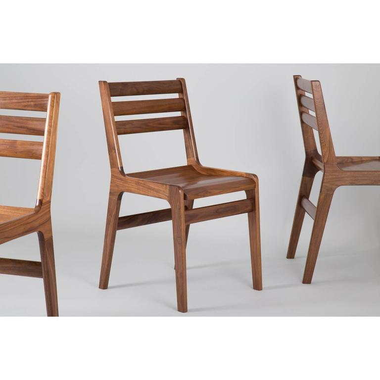 American Asa Pingree Fenelon Dining Chair in Walnut, Oak, Ebonized Maple or Fog Gray Ash For Sale