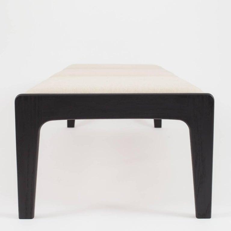 American Modern Asa Pingree Lapwing Bench in Ebonized Oak For Sale