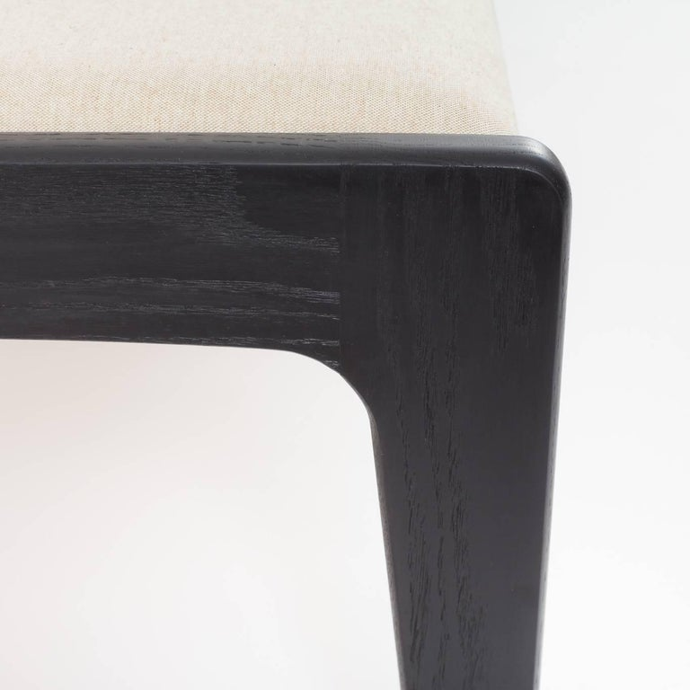 Asa Pingree Lapwing Bench in Ebonized Oak In Excellent Condition For Sale In Brooklyn, NY