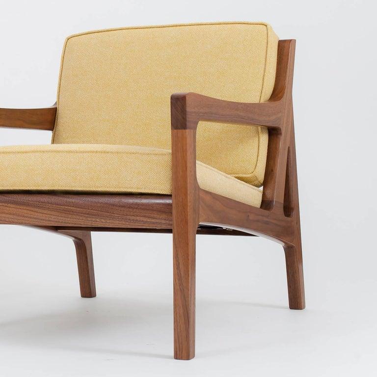 American Modern Asa Pingree Pilar Lounge Chair in American Walnut For Sale