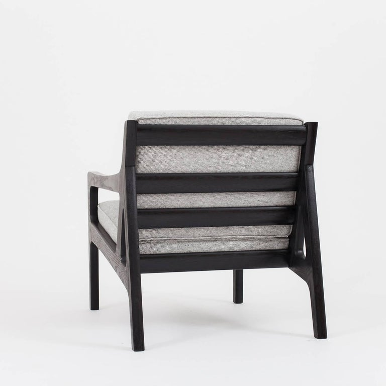 Ash Asa Pingree Pilar Lounge Chair in American Walnut For Sale