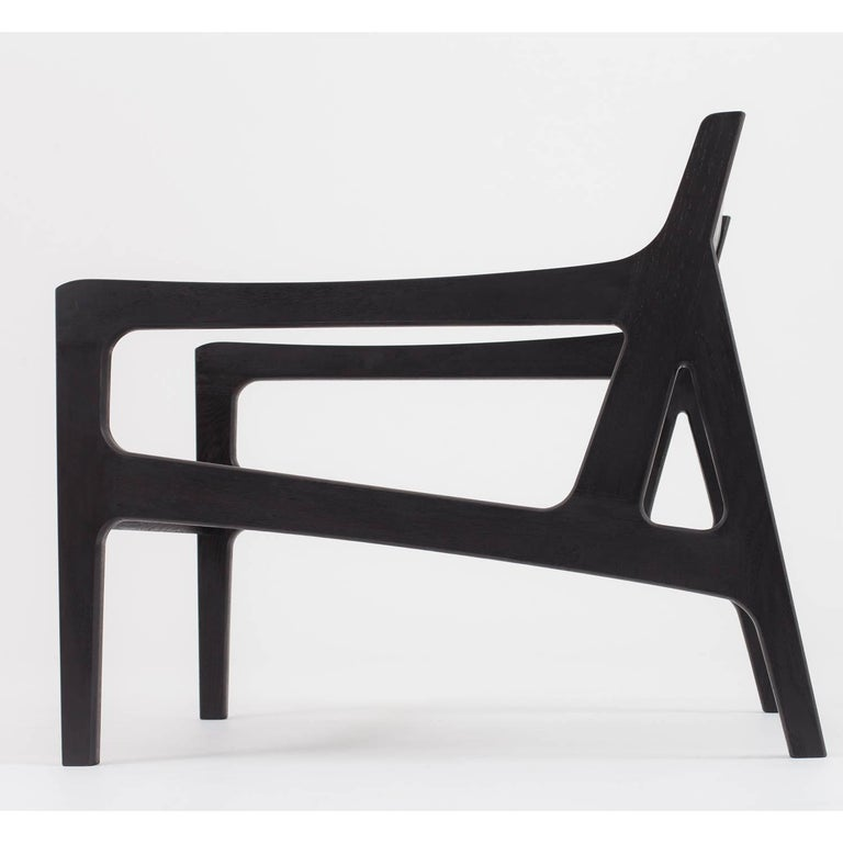 Ebonized Asa Pingree Pilar Lounge Chair in American Walnut For Sale