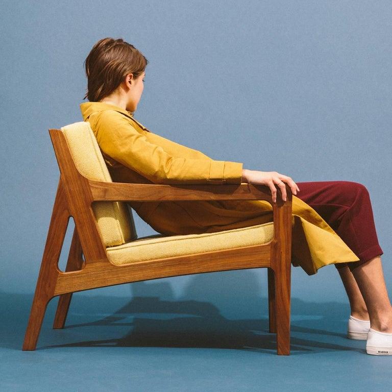 Asa Pingree Pilar Lounge Chair in Fog Gray Ash 7