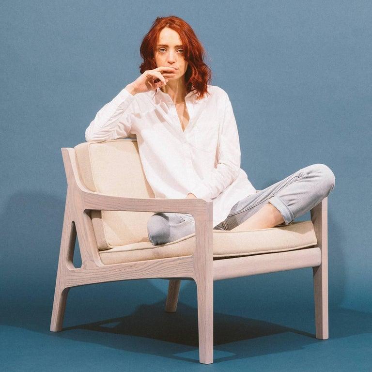 Asa Pingree Pilar Lounge Chair in Fog Gray Ash 4