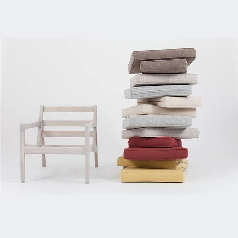 Asa Pingree Pilar Lounge Chair in Fog Gray Ash 10