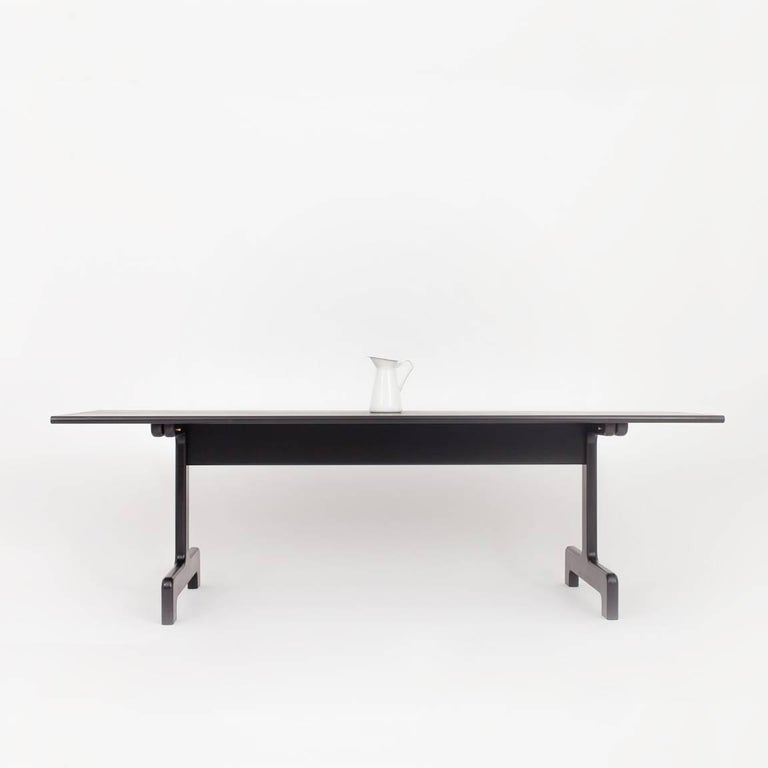 Contemporary Asa Pingree Physalia Dining Table in Ebonized Maple For Sale