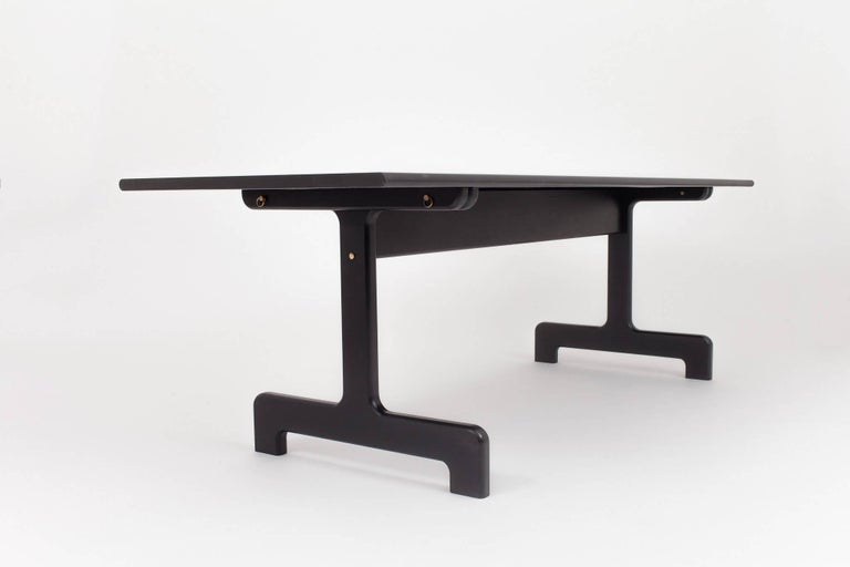 Oak Asa Pingree Physalia Dining Table in Ebonized Maple For Sale
