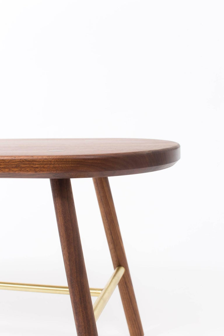 Modern Steven Bukowski Scout Bench in Walnut, Cerused Oak and Ebonized Oak For Sale