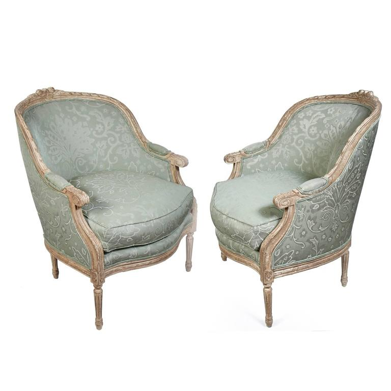 Pair of Harden French Carved Armchairs For Sale