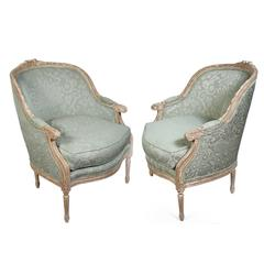 Pair of Harden French Carved Armchairs