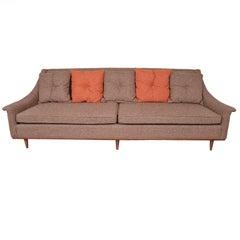 Selig Monroe Mid-Century Modern Brown Textured Sofa