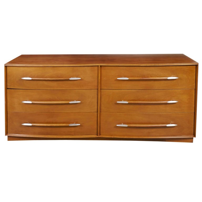 T.H. Robsjohn-Gibbings for Widdicomb Six-Drawer Walnut Dresser