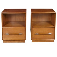 Pair of T.H. Robsjohn-Gibbings Nightstands Designed for Widdicomb