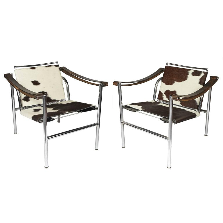 Le Corbusier LC1 Pair of Sling Chairs