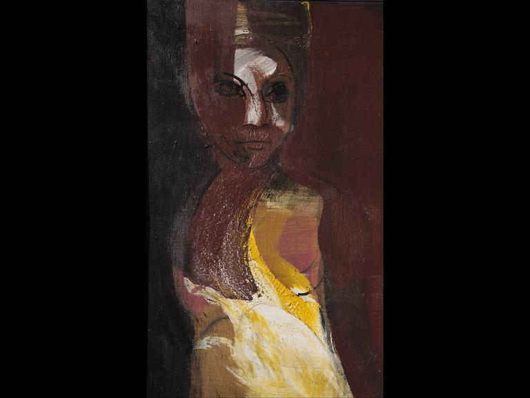 Modern Guillermo Ceniceros, Untitled Painting of a Woman For Sale
