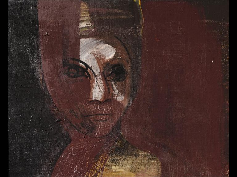 Mexican Guillermo Ceniceros, Untitled Painting of a Woman For Sale