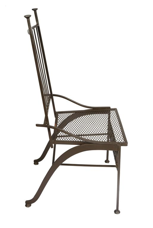 Rare Set Of Six Salterini Wrought Iron Chairs For Sale At
