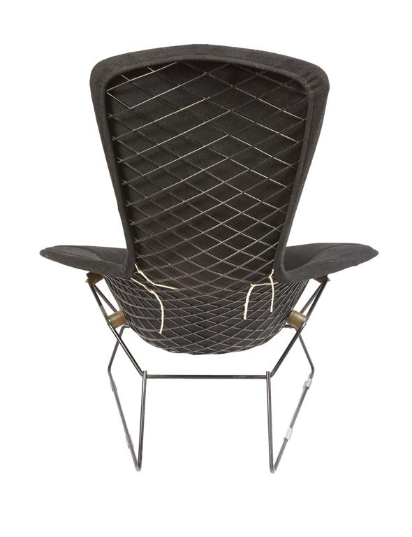 Vintage Bertoia Bird Chair And Ottoman With Full Cover In