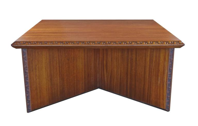 Mahogany Coffee Table Designed By Frank Lloyd Wright For Heritage Henredon From The Taliesin Collection