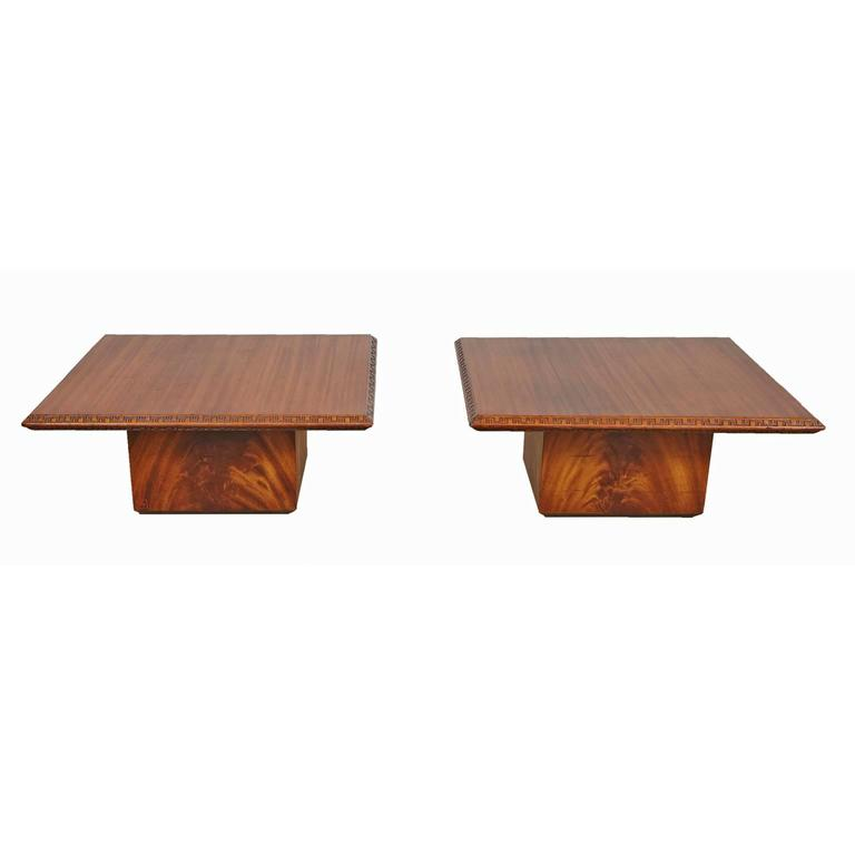 Pair of Frank Lloyd Wright End Tables for Heritage Henredon 2
