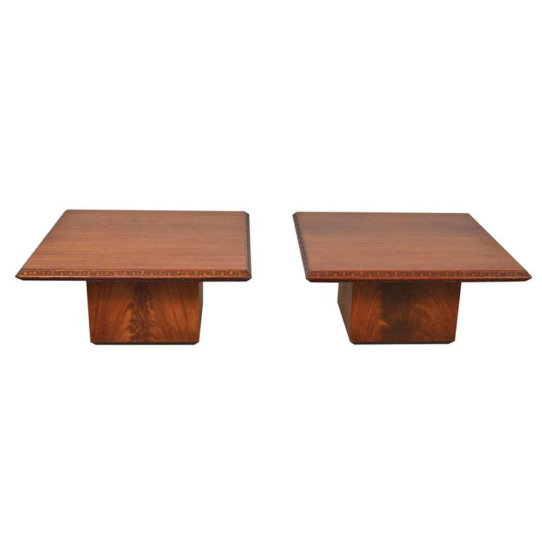 Pair of Frank Lloyd Wright End Tables for Heritage Henredon 3