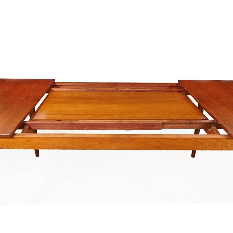 Scandinavian Modern Finn Juhl Model FD 540 Solid Teak Dining Table by France & Son For Sale
