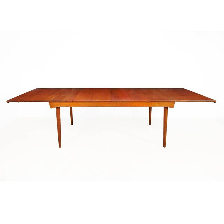 Danish Finn Juhl Model FD 540 Solid Teak Dining Table by France & Son For Sale