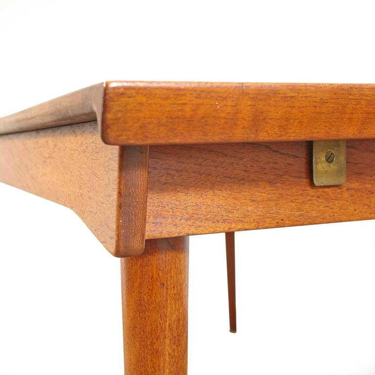 20th Century Finn Juhl Model FD 540 Solid Teak Dining Table by France & Son For Sale