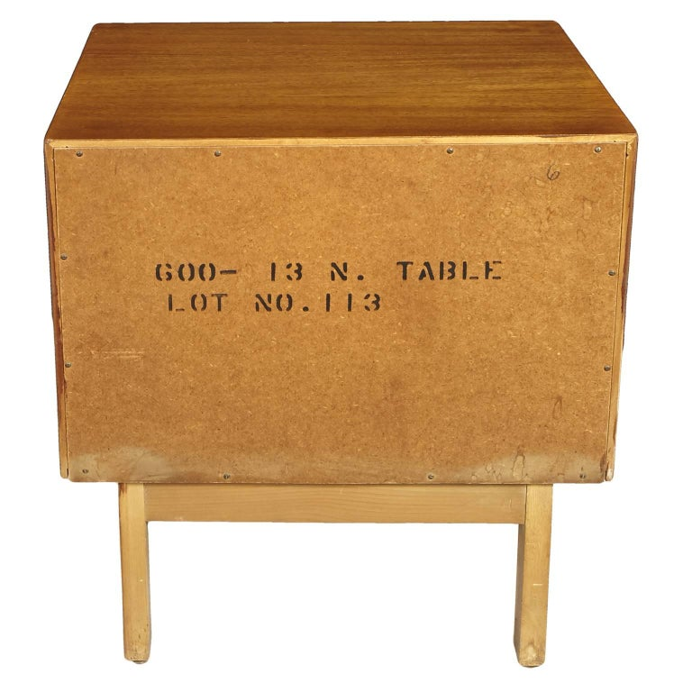 Brass American of Martinsville Nightstand or Side Table For Sale
