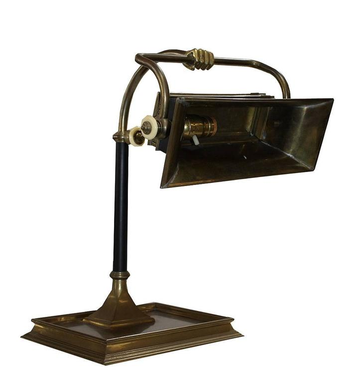 Antique Chapman Fist Bank Lamp For Sale at 1stdibs