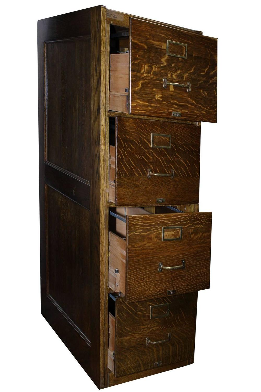 antique oak filing cabinet for sale at 1stdibs. Black Bedroom Furniture Sets. Home Design Ideas