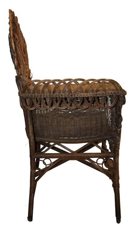 Haywood Wicker Photo Chair At 1stdibs